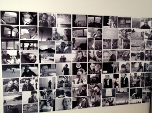 A cool photo collage of Eissa and Nick together hung on the wall near the bar.