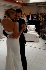 Another great shot of Eissa and Nick's first dance.