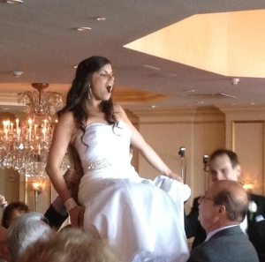 Evan and Rachel's hora. I love the look on her face!!