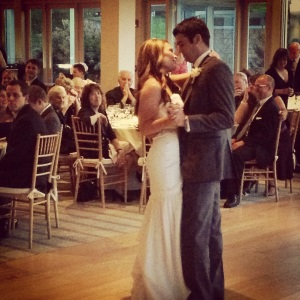 Jen and Tom's first dance at The Garrison.