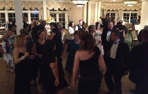 Folks getting down to celebrate the 50th anniversary of Franklin Hospital on LI, part of the North Shore LIJ Health Care system.