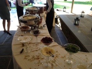 Maryann and Matt also had the coolest thing ever at their wedding - mashed potato bar w/ all the fixin's. Too good!