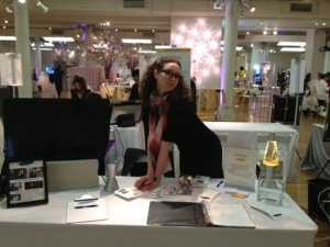 Amy setting up at last year's show!