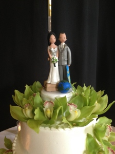 Adorable cake topper.
