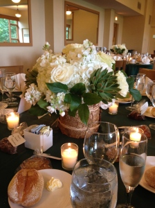 The succulents in the centerpieces were a truly charming country touch.