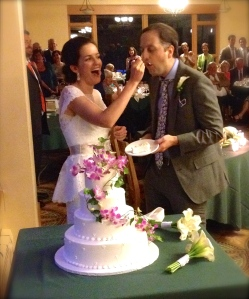 Gotta snap the cake cutting shot.
