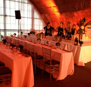 The folks from Laurent Perrier getting ready for the VIP tasting.