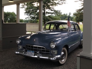 The awesome 1948 Cadillac was parked beside the house. We just had to snap a pic!