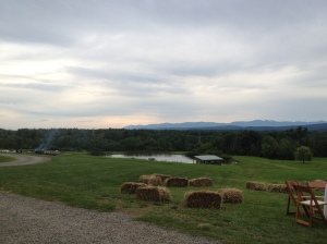 The view from the barn on Keene Farm.