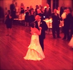Kristen and Sean's first dance. Into the Mystic by Van Morrison.